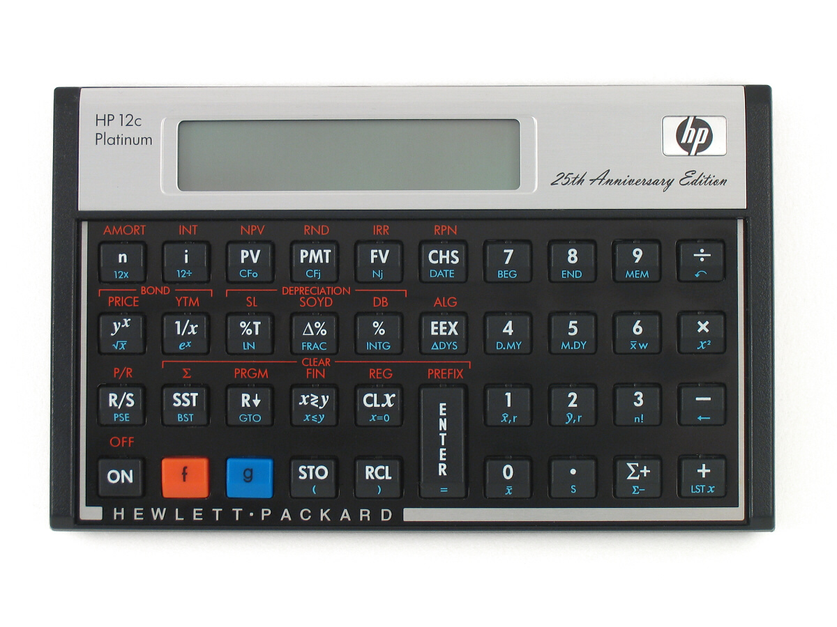 product information about the hp 12c platinum 25th anniversary rh commerce hpcalc org HP 12C Calculator Online hp 12c calculator operating manual