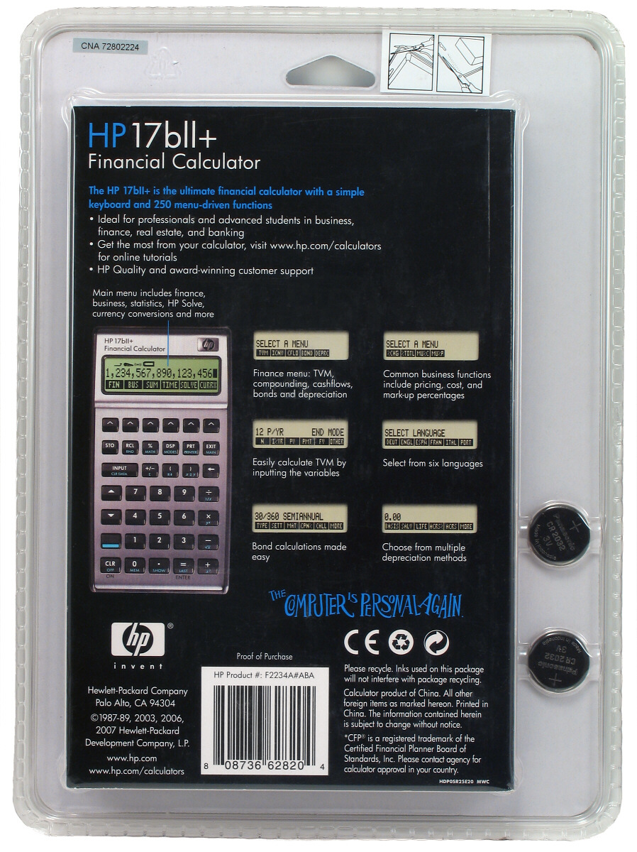 how to use hp 17bii financial calculator