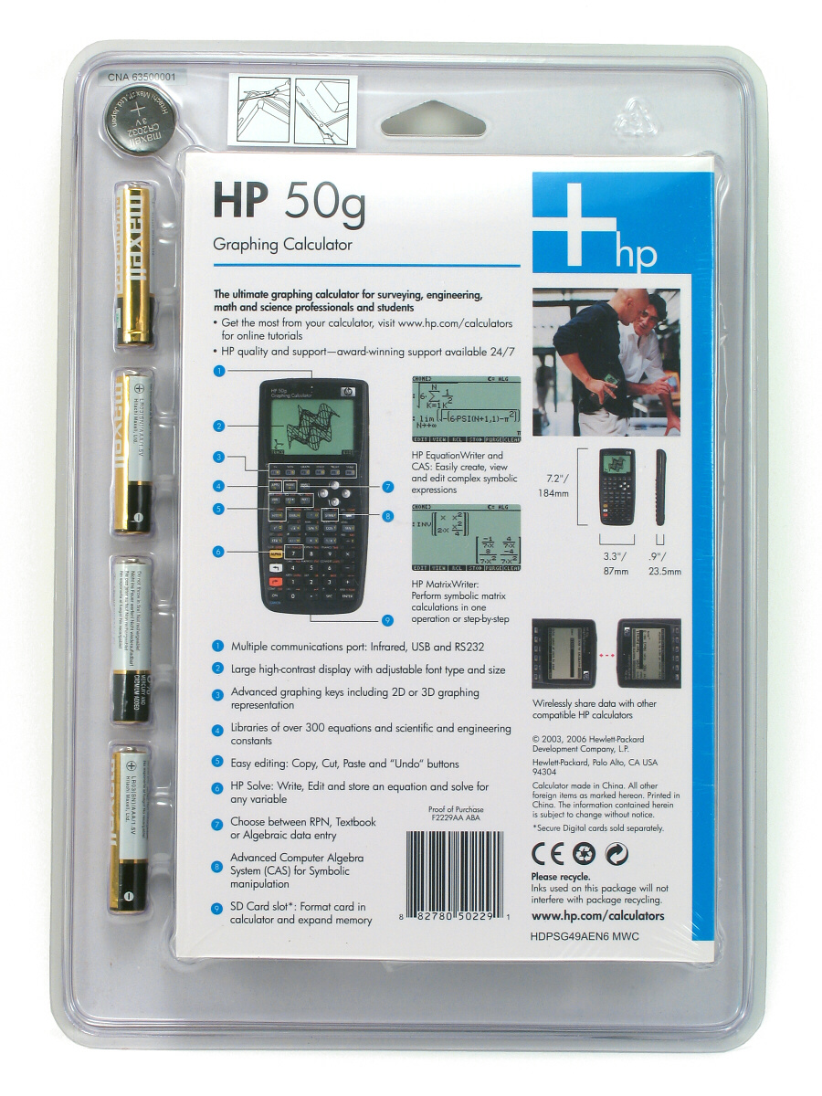 User Manual Hp 50G Graphing Calculator